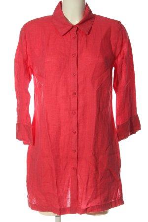 Franco Callegari Blusa de lino rojo estilo «business»