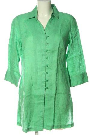 Franco Callegari Blusa de lino verde look casual