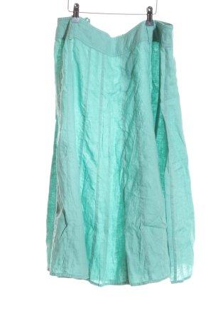 Franco Callegari Falda de lino turquesa elegante