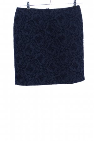 Franco Callegari Midirock blau-schwarz Blumenmuster Business-Look