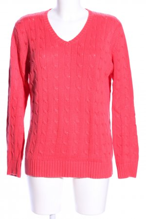 Franco Callegari Strickpullover pink Zopfmuster Casual-Look