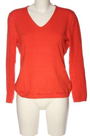 Franco Callegari V-Ausschnitt-Pullover rot Casual-Look