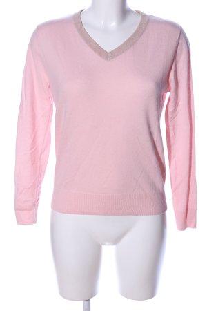 Franco Callegari V-Ausschnitt-Pullover pink Casual-Look