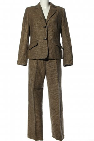 Franco Callegari Woven Twin Set brown flecked business style