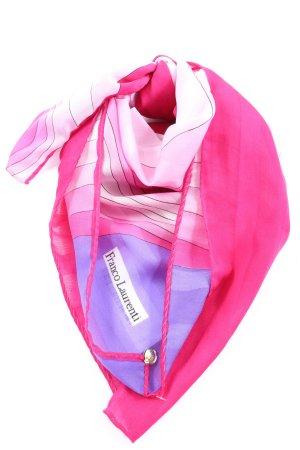Franco Laurenti Pañoleta rosa-azul estampado repetido sobre toda la superficie