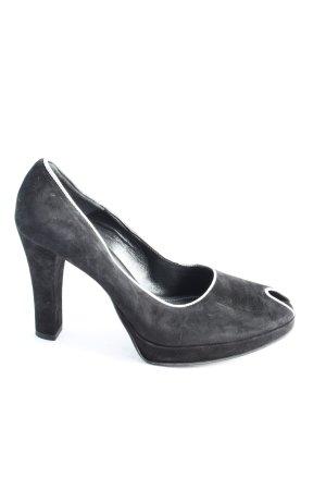Franco Russo High Heels schwarz-weiß Business-Look