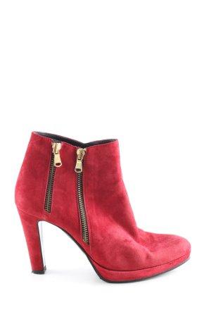 Franco Russo Reißverschluss-Stiefeletten rot Casual-Look