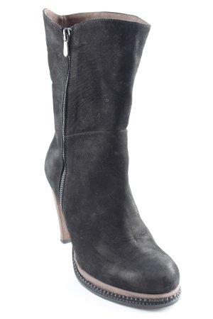 Franco Russo Reißverschluss-Stiefeletten schwarz-graubraun klassischer Stil