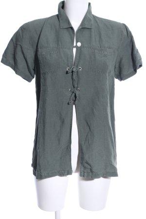 Francois Perrin Short Sleeved Blouse khaki casual look