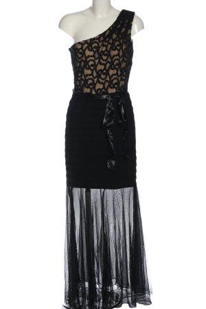 Frank Lyman Abendkleid braun-schwarz grafisches Muster Elegant