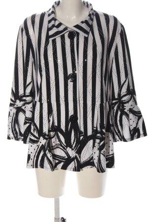 Frank Lyman Veste chemisier blanc-noir motif rayé style d'affaires
