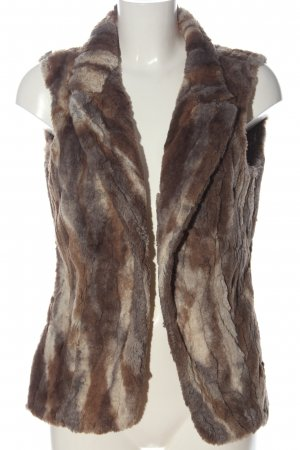 Frank Lyman Fake Fur Vest brown color gradient casual look
