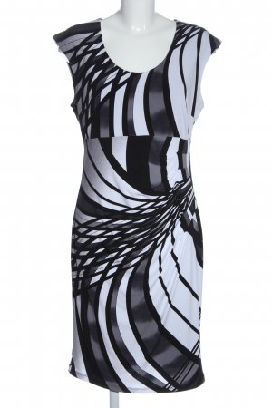Frank Lyman Minikleid schwarz-weiß abstraktes Muster Business-Look