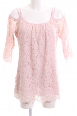 Frank Lyman Spitzenbluse pink Blumenmuster Elegant