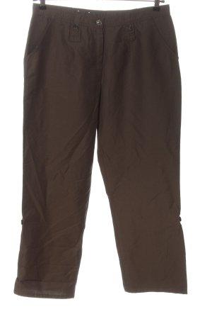 Frank Walder Pantalone a 7/8 marrone stile casual