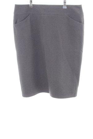 Frank Walder Falda de tubo gris claro moteado estilo «business»