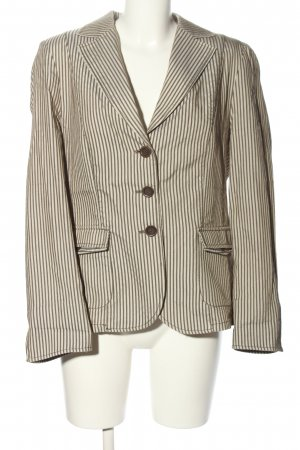 Frank Walder Boyfriend-Blazer weiß-braun Allover-Druck Business-Look