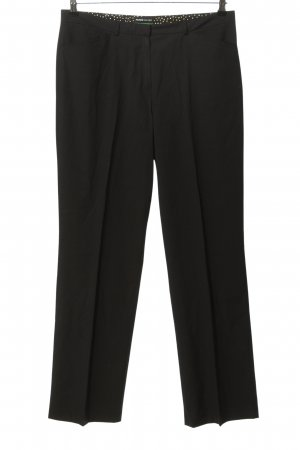 Frank Walder Pantalone a pieghe nero stile professionale