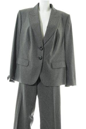 Frank Walder Costume business gris clair-blanc motif rayé style d'affaires