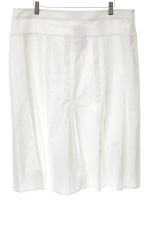 Frank Walder Gonna a pieghe bianco stile casual