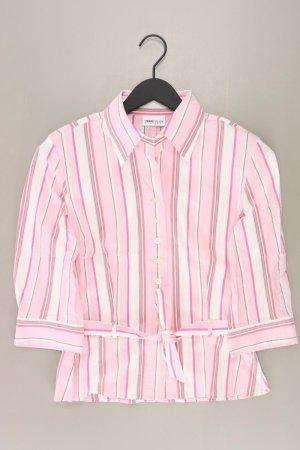Frank Walder gestreifte Bluse Größe 38 3/4 Ärmel pink aus Baumwolle