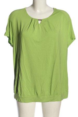 Frank Walder Camicetta a maniche corte verde stile casual