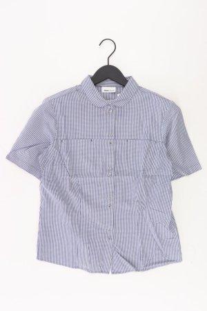 Frank Walder Kurzarmbluse Größe 38 blau aus Baumwolle