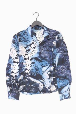 Frank Walder Langarmbluse Größe 38 blau aus Polyester