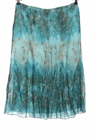 Frank Walder Maxi Skirt turquoise-light grey allover print casual look