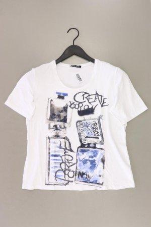 Frank Walder Printshirt Größe 40 Kurzarm weiß