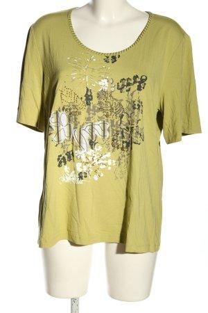 Frank Walder T-shirt cachi Stampa a tema stile casual