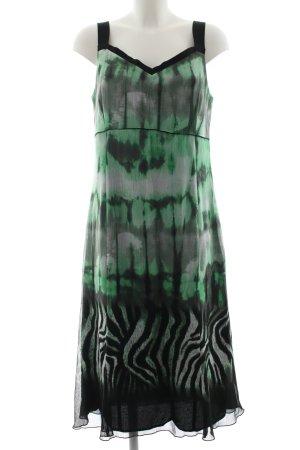 Frank Walder Trägerkleid abstraktes Muster Elegant