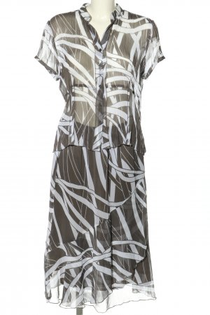 Frank Walder Woven Twin Set khaki-white abstract pattern casual look