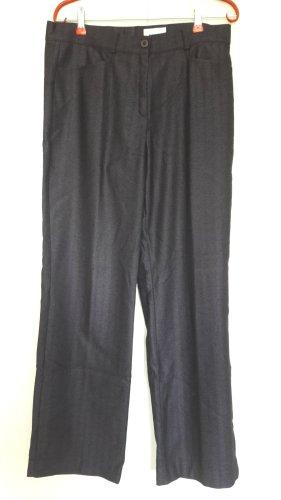 Frank Walder Woolen Trousers dark violet-black new wool