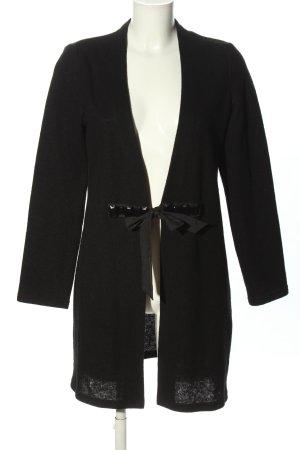 Frank Walder Veste en laine noir style décontracté