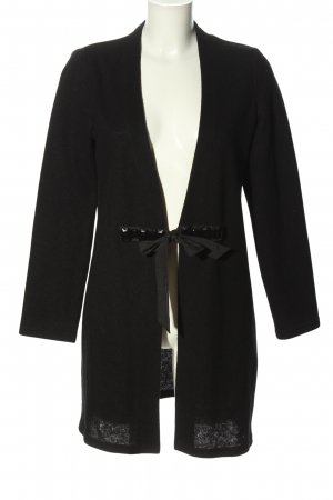 Frank Walder Giacca di lana nero stile casual