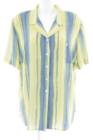 Frankenwälder Hemd-Bluse blassgelb-blau Streifenmuster Casual-Look