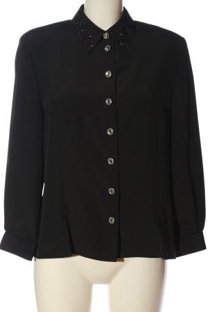 Frankenwälder Hemd-Bluse schwarz Casual-Look