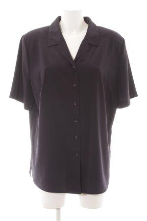 Frankenwälder Kurzarm-Bluse schwarz Casual-Look