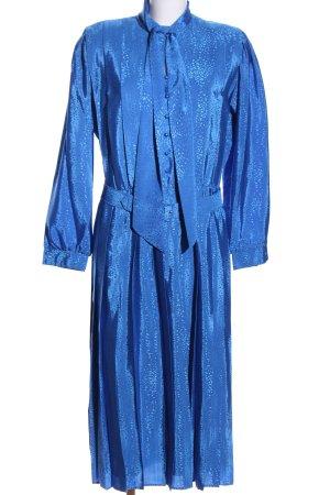 Frankenwälder Langarmkleid blau Allover-Druck Elegant