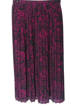 Frankenwälder Falda plisada rosa-gris claro estampado con diseño abstracto