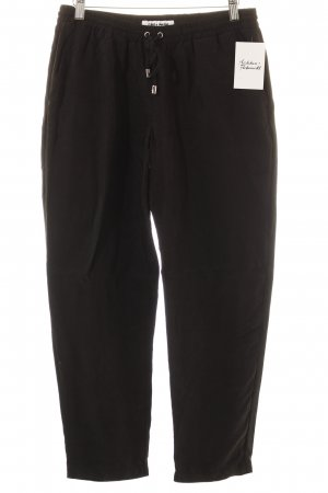 Frankie Morello Jersey Pants black casual look
