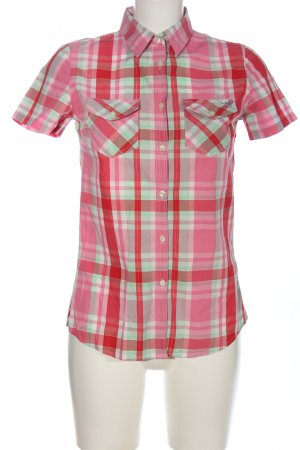 Franklin & marshall Lumberjack Shirt pink-turquoise check pattern casual look
