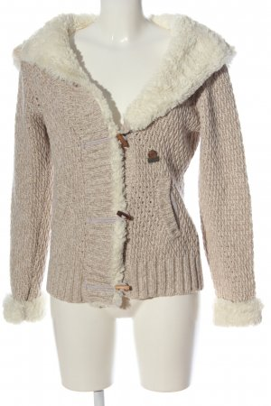 Franklin & marshall Hooded Sweater natural white casual look