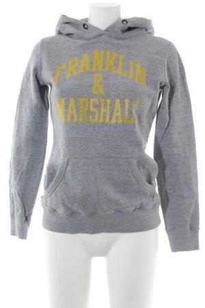 Franklin & marshall Kapuzenpullover grau Schriftzug gedruckt Casual-Look