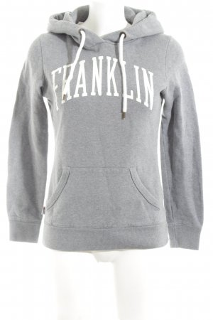 Franklin & marshall Kapuzensweatshirt hellgrau-weiß meliert Casual-Look