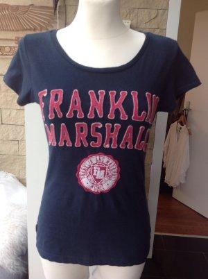 Franklin & marshall T-Shirt dark blue cotton