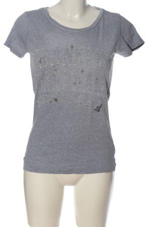 Franklin & marshall T-Shirt light grey flecked casual look