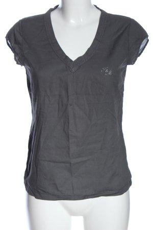 Franklin & marshall V-Neck Shirt light grey casual look