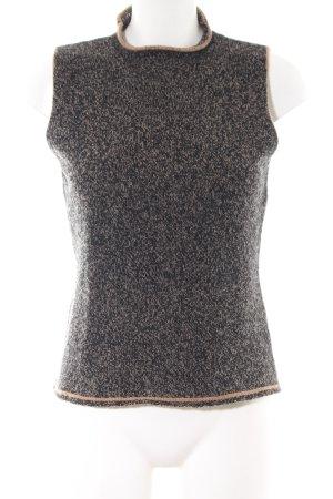 Frankonia Cárdigan de punto fino negro-nude moteado look casual